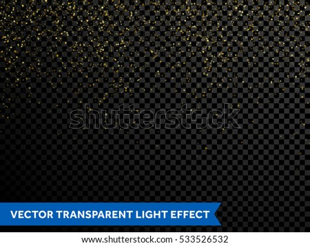 festive falling shiny particles