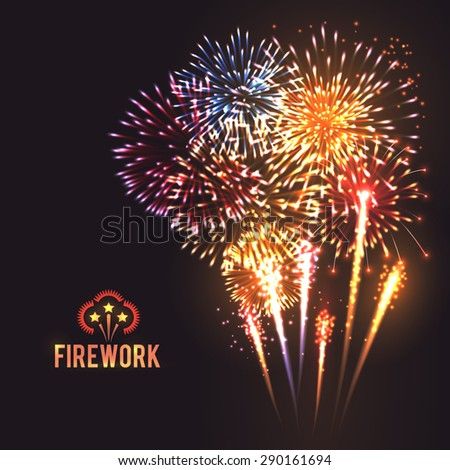 festive firework rockets