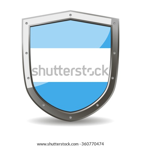festive flag of argentina