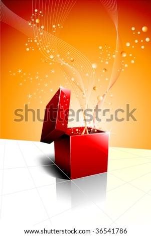 festive gift box opening