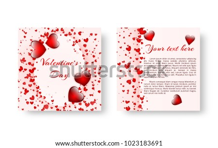 Free vector 1st birthday invitation card download free vector art festive invitation template in romantic style for the celebration of the saint valentines day or birthday stopboris Image collections
