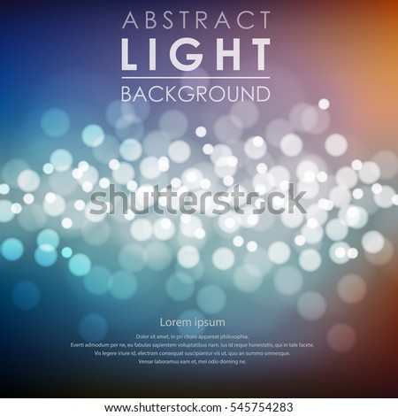 Festive light background with blur