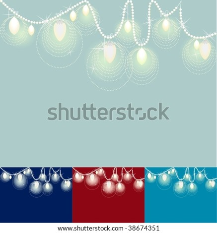 Festive Lights on a String of Pearls