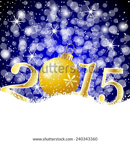 festive marble and numbers 2015 on to snow,  vector  illustration #240343360