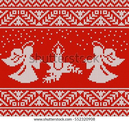 festive pattern two angels