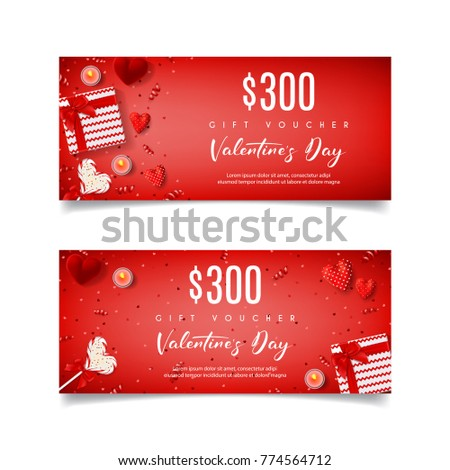 festive red gift voucher  for