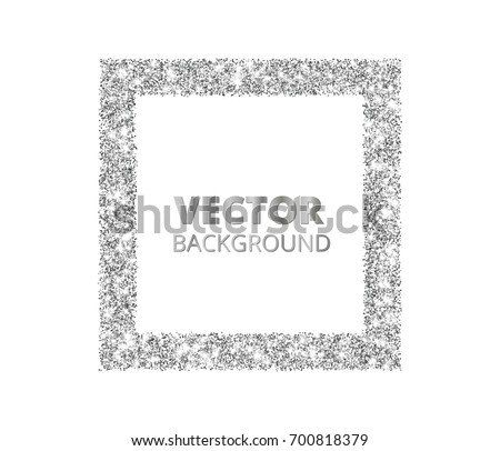 Silver Glitter Background Vector - Download Free Vector Art, Stock ...