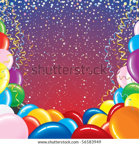 Festive Vector Background For Your Text -More Balloons See At My