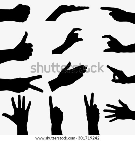 stock-vector-few-black-silhouette-hand-on-gray-background