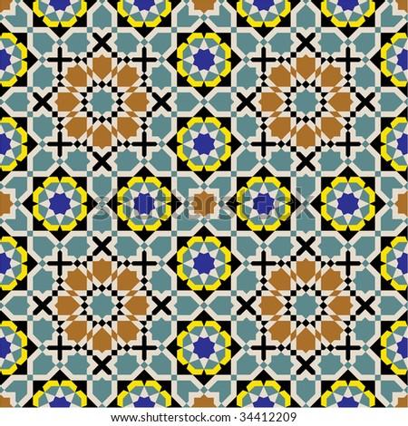 Fez Arab Seamless Pattern