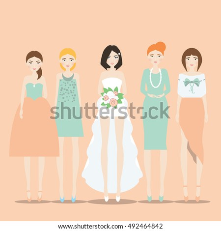 fiancee  bride in the dress