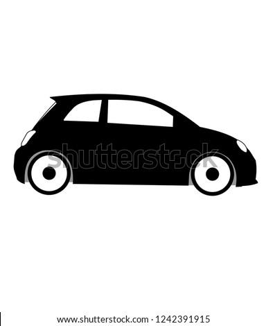 Fiat 500 abarth, small italian car vector