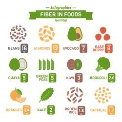 Fiber in Foods Infographics