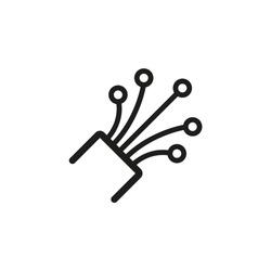 Fiber optic cable icon flat trendy