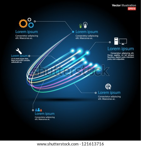 fiber optic vector / business communication / network technology / can use for brochure / infographic