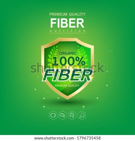 Fiber or Vitamin in Food Logo Concept for Products Template. Foto d'archivio ©