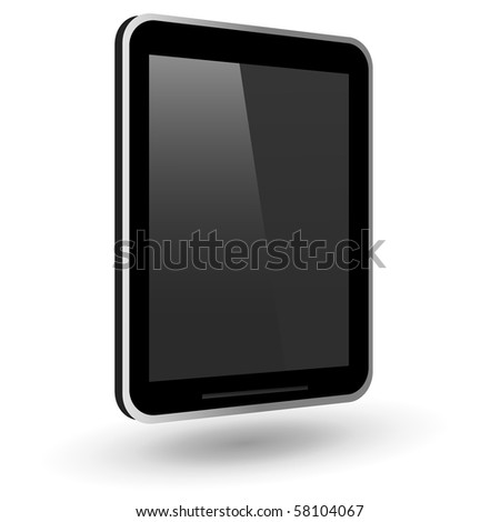 Fictitious touch tablet PC. Vector Illustration. - stock vector