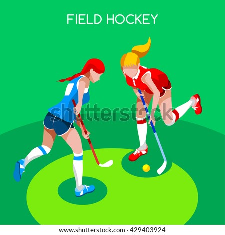 field hockey girl player