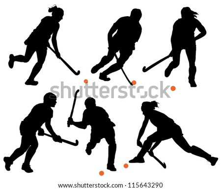 field hockey silhouette on