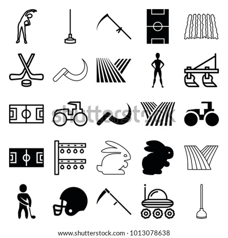 field icons set of 25 editable