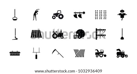 field icons set of 18 editable