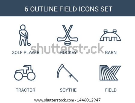 field icons trendy 6 field