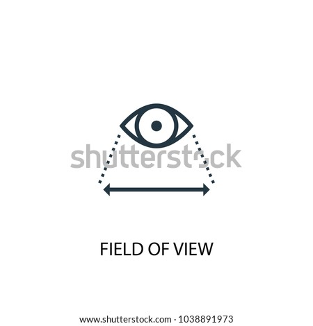 Field of view icon. Simple element illustration. Field of view concept symbol design from Augmented reality collection. Can be used for web and mobile.
