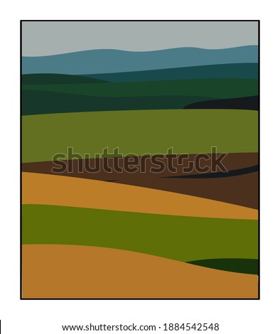 fields in tuscany this vector
