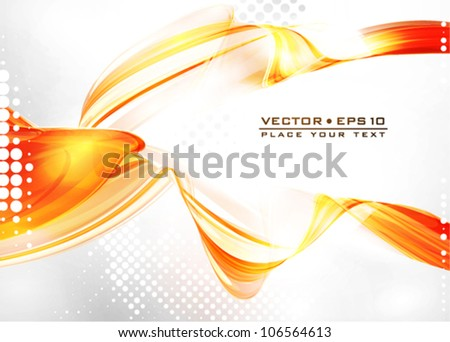 Fiery abstract background. Vector
