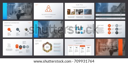 Fiery and Icy elements on a white background. This template is the best as a business presentation, corporate report, used in marketing and advertising, the annual report, flyer and banner