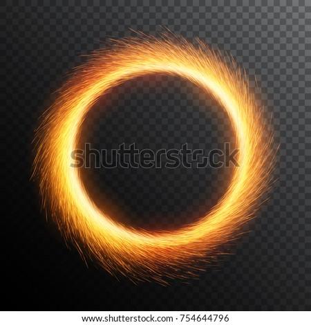 fiery sparks circle sparkler