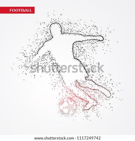 Fifa Football Player Playing in russia Dotted Concept Background. Russia FIFA world cup 2018 Concept Design background