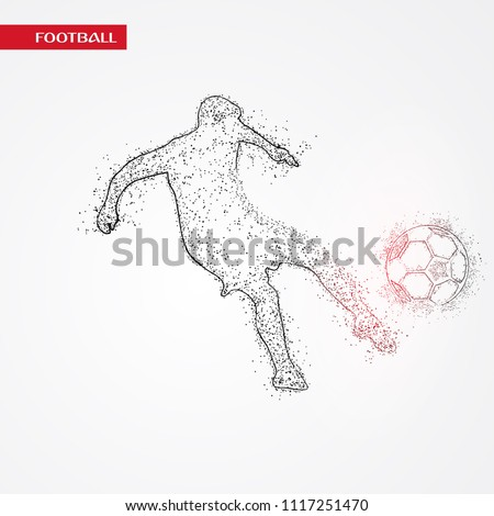 Fifa Football Player Playing in russia Dotted Concept white Background. Russia FIFA world cup 2018 Concept Design background