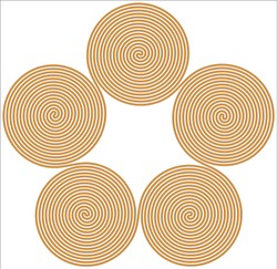 Fifth Spiral Symbol icon illustration with a white background