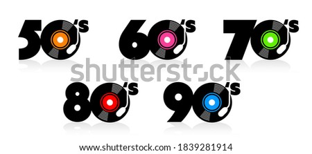 Fifties, sixties, seventies eighties and nineties sign