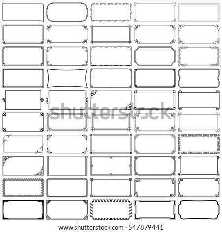Fifty rectangle frames (set 2) #547879441