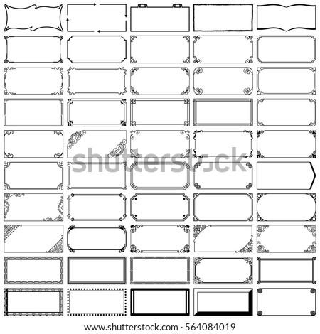 Fifty rectangle frames (set 3)