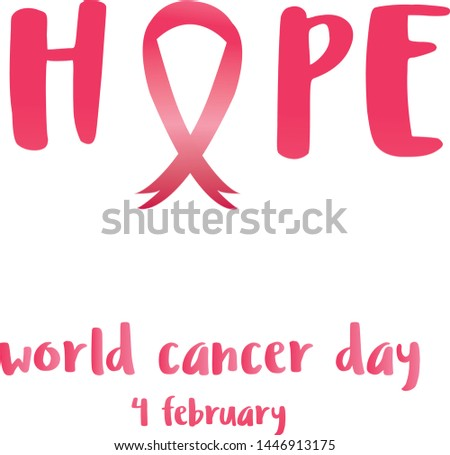 dbc610f2b70 Fight against cancer, pink ribbon, breast cancer awareness symbol. 4  february world cancer
