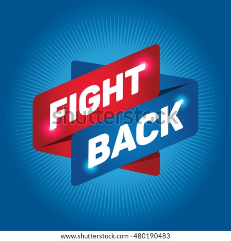 fight back arrow tag sign