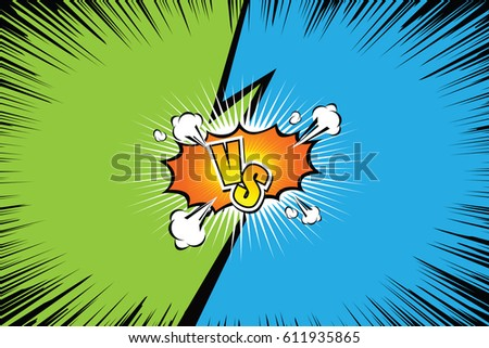 Fight backgrounds comics style design. Vector illustration. Stockfoto ©