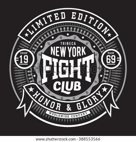 fight boxing  sport typography