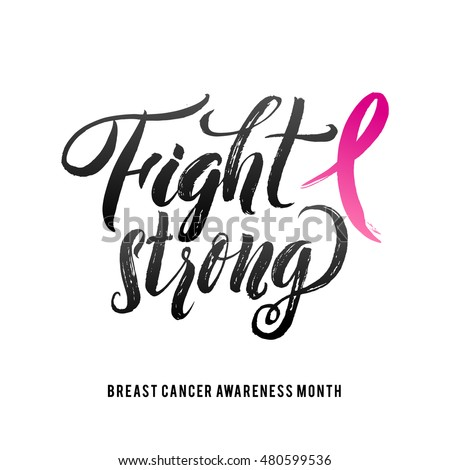 fight cancer vector breast