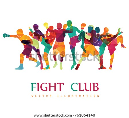 Fight club. Boxing vector illustration