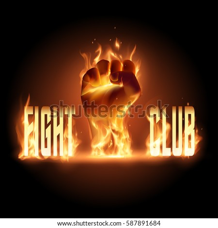 fight club emblem illustration
