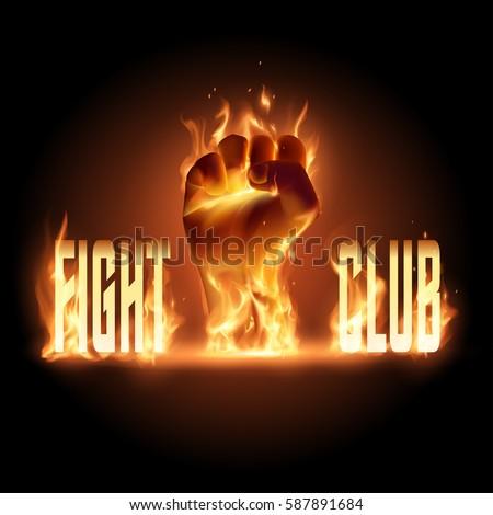 fight club emblem illustration