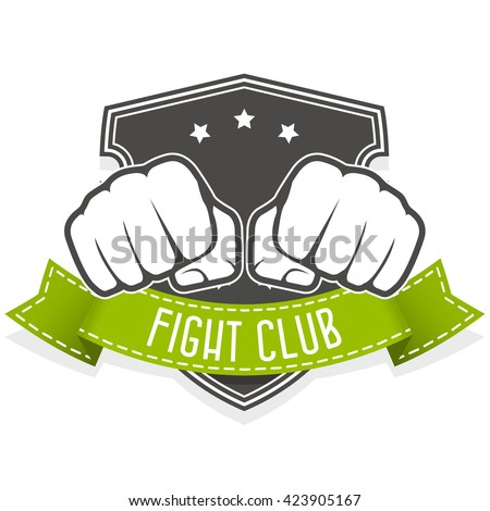 fight club emblem with two