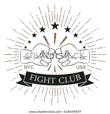 fight club logo hipster style