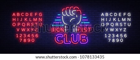 fight club logo in neon style....