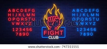 fight club logo neon sign