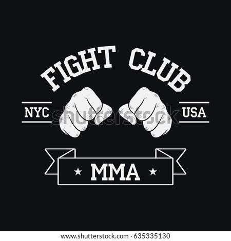 fight club logo nyc  usa mma